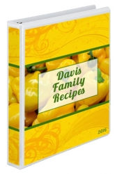 Yellow Peppers Cookbook Cover Design